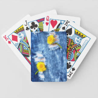 Denim Dandelions Bicycle Playing Cards