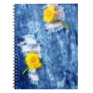 Denim Dandelions Notebook