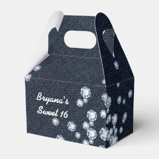 Denim & Diamonds Birthday Party Favor Boxes