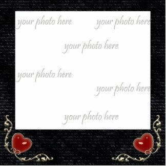 Denim Hearts Gothic Photo Sculpture