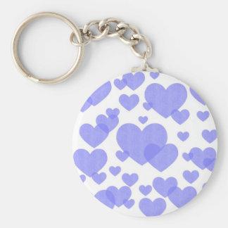 Denim Hearts keychain