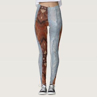 Denim & hide leggings