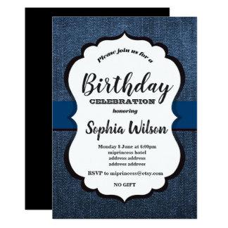 Denim Invitation , birthday party