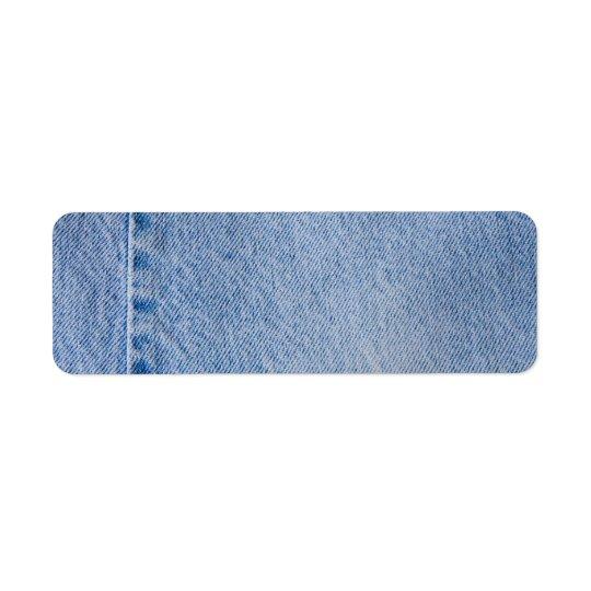 Denim jeans address label craft