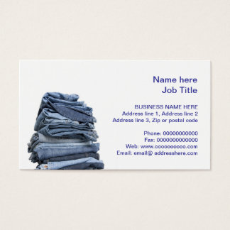 denim jeans fashion business card