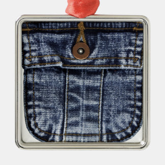 Denim Jeans Pocket Metal Ornament