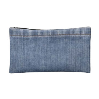 Denim-like Cosmetic Bag