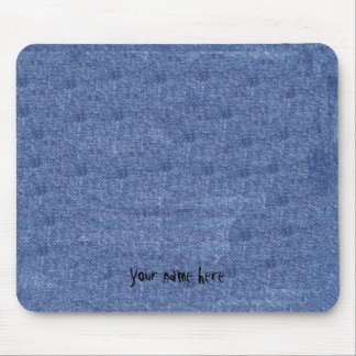 Denim Look and Your Name Mouse Pad