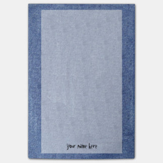 Denim Look and Your Name Post-it Notes