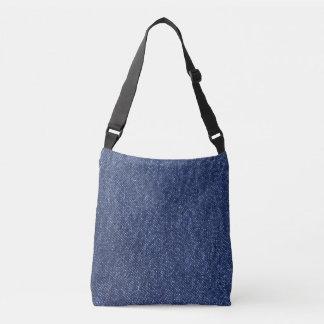 Denim Look Crossbody Bag