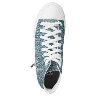 Denim look  high tops converse Designer Sneakers
