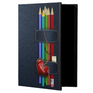 Denim Look Pencil Case Teacher iPad Air 2 Case