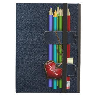 Denim Look Pencil Case Teacher iPad Air Case