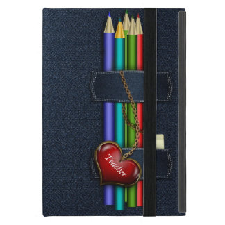 Denim Look Pencil Case Teacher iPad Mini Case