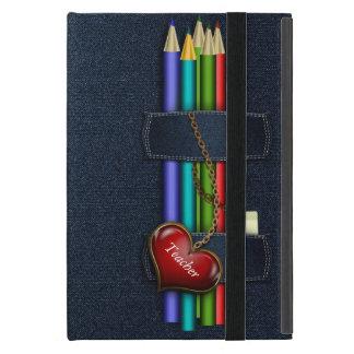 Denim Look Pencil Case Teacher iPad Mini Case