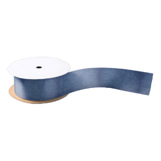 Denim-look Ribbon Satin Ribbon