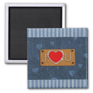 Denim Love. Valentine's Day Gift Magnet Fridge Magnet