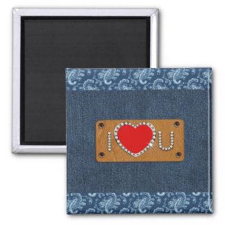 Denim Love. Valentine's Day Gift Magnet Refrigerator Magnet