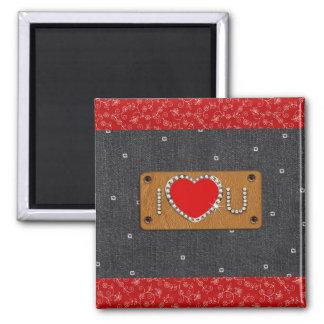 Denim Love. Valentine's Day Gift Magnet Magnets