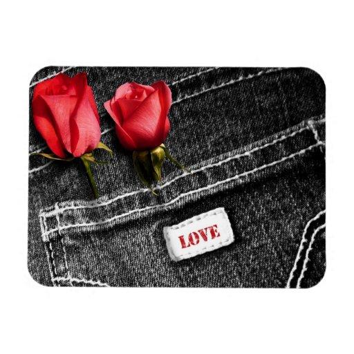 Denim Love. Valentine's Day Gift Magnet Flexible Magnet