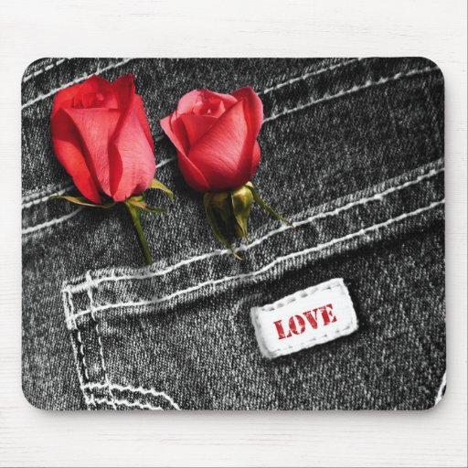 Denim Love. Valentine's Day Gift   Mousepad Mouse Pads