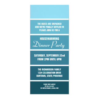 Denim Paint Sample Card Housewarming Invitation