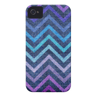 Denim Pastel Chevron iPhone 4 Covers