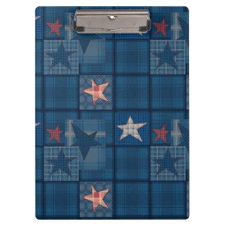 Denim patchwork clipboard