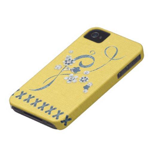 Denim Print Butter Cornflower Blue BlackBerryBold Blackberry Cases