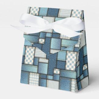 Denim Quilt Tent Favor Box