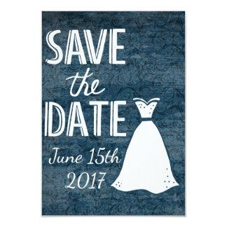 denim save the date card