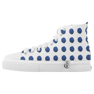 Denim Spots Printed Shoes