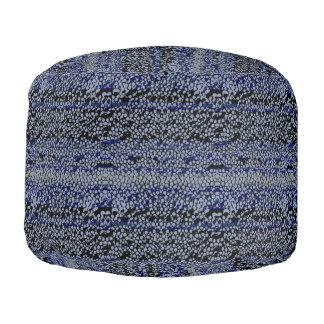 Denim Stingray Pouf
