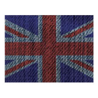 Denim Texture Pattern Union Jack British UK Flag Postcards