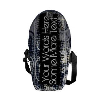 Denim Trendy circles womens Messenger bags