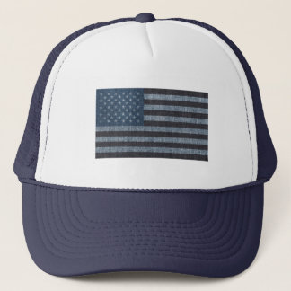 Denim USA flag patriotic hat