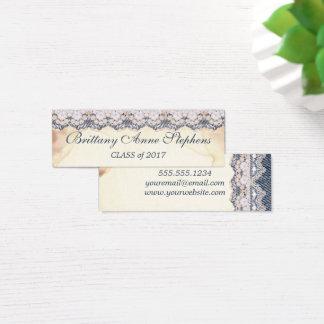 Denim Vintage Lace Old Paper Graduation  Insert