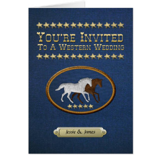 Denim Western Wedding Invitation