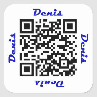 Denis QR Code Personalized NAME Sticker