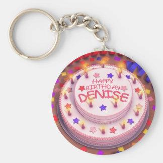 Denise's Birthday Cake Key Chain