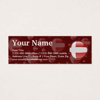 Denmark Bubble Flag Mini Business Card