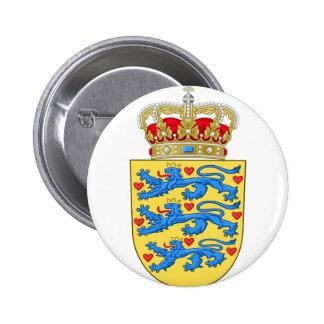 denmark coat of arms 6 cm round badge