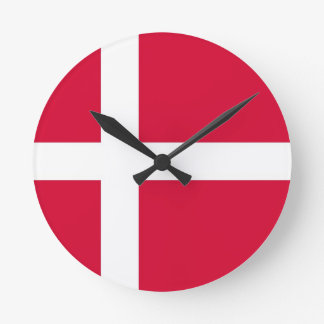 denmark country flag clock