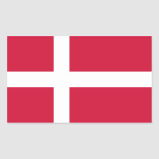 Denmark/Danish/Dane Flag Rectangular Sticker