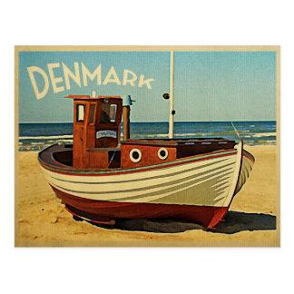 Denmark Fishing Boat Postcard