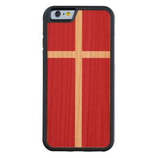 Denmark Flag Carved Cherry iPhone 6 Bumper Case