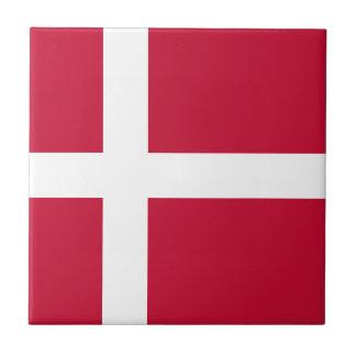 Denmark Flag Ceramic Tile