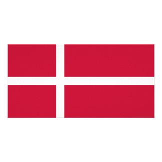 Denmark Flag Customized Photo Card