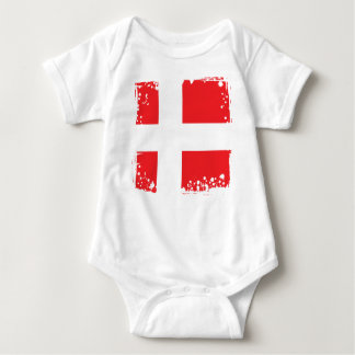 Denmark Flag, Danish Cool Baby cloth Baby Bodysuit