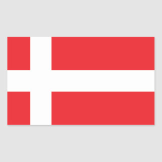 DENMARK FLAG DANNEBROG RECTANGULAR STICKER